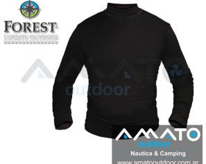 Camiseta Media Polera Termica Forest Leather Bamboo