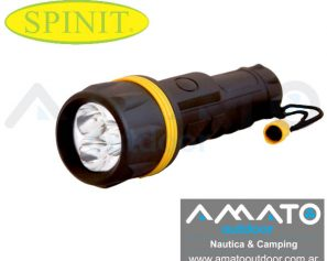Linterna Spinit Waterproof 3 led 3D