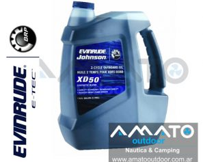 Aceite Evinrude Johnson Para fuera de borda 2T XD50 1 Galon