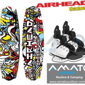 Tabla de Wakeboard Airhead Inside Out + Botas Airhead Primo
